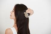 여성, 뷰티, 두피, 마사지, 헤어스타일 (Hair Type), 뒷모습