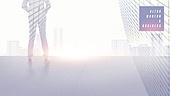 백그라운드, 초현대적 (컨셉), 비즈니스, 도시, 다중노출