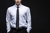 남성, 비즈니스, 화이트칼라 (전문직), 셔츠와넥타이 (갖춰입은옷)