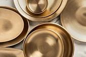 그릇 (주방용품), 백그라운드, 탑앵글, 레이아웃, 원형 (이차원모양), 주방용품, 식기수저세트 (데코르), 사람없음, 놋그릇 (한국전통), 테이블, 대리석