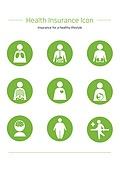 아이콘세트 (아이콘), 보험 (주제), 건강한생활 (주제), 의료보험 (보험), 혜택, 건강관리 (주제), 상해 (건강이상), 몸 (인간의특성), 질병 (건강이상)