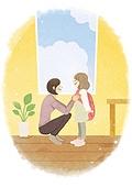 라이프스타일, 학생, 개학 (교육), 시작, 소녀 (여성), 부모, 엄마, 출석 (움직이는활동)