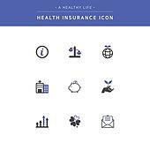 건강관리 (주제), 건강한생활 (주제), 의료보험, 아이콘, 아이콘세트, 안내데스크 (키오스크)