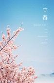 봄, 백그라운드, 절기, 계절, 벚꽃, 꽃