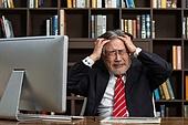남성, 경영자 (책임자), 사무실, 스트레스