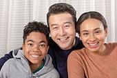 다문화가족, 아빠, 엄마, 아들, 함께함 (컨셉), 미소, 행복