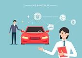 보험 (주제), 보험설계사 (금융직), 보험금, 보험료, 특약 (보험), 일러스트, 자동차보험 (보험), 카셰어링 (공유), 카렌탈 (Transportation Event)