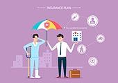 보험 (주제), 보험설계사 (금융직), 보험금, 보험료, 특약 (보험), 일러스트, 상해 (건강이상), 상해보험