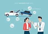 보험 (주제), 보험설계사 (금융직), 보험금, 보험료, 특약 (보험), 일러스트, 사고, 교통사고, 견인차, 사고접수
