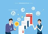 보험 (주제), 보험설계사 (금융직), 보험금, 보험료, 특약 (보험), 일러스트, 계약 (서류), 조언 (컨셉)
