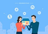 보험 (주제), 보험설계사 (금융직), 보험금, 보험료, 특약 (보험), 일러스트, 자산관리, 주택개발 (주거건물), 주택보험, 부동산