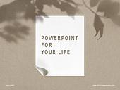 파워포인트, 메인페이지, 백그라운드, 프레임, 그림자, 실루엣, 잎, 단순(컨셉), 라이프스타일