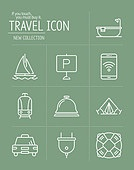아이콘세트 (아이콘), 라인아이콘, 여행, 상업이벤트 (사건), 휴가 (주제)