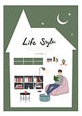 집, 라이프스타일, 프레임, 라이프스타일 (주제), 책, 책장, 방