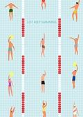 라이프스타일 (주제), 일러스트, 운동, 욜로 (컨셉), 다이어트, 취미 (주제), 수영 (수상스포츠)