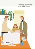 라이프스타일 (주제), 일러스트, 비즈니스, 사무실 (업무현장), 비즈니스미팅 (미팅), 팀워크 (협력)