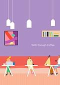 라이프스타일 (주제), 일러스트, 카페, 카페문화 (라이프스타일), 데이트 (로맨틱), 미팅 (사건)