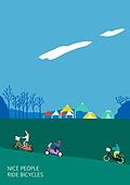 라이프스타일 (주제), 일러스트, 여행, 자전거, 레저활동 (주제), 자연 (주제), 플레이 (움직이는활동), 공원