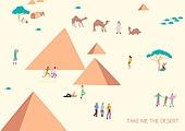 라이프스타일 (주제), 일러스트, 여행, 배낭여행자 (여행하기), 해외 (지리적인장소), 피라미드 (건설물), 피라미드모양 (Three-dimensional Shape), 이집트 (북아프리카)
