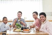 다문화가족 (가족), 한식, 식사, 쌈, 미소, 행복