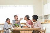 다문화가족 (가족), 한식, 식사, 쌈, 미소, 먹여주기 (움직이는활동)