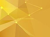 백그라운드, 금색 (색상), 삼각형 (이차원모양), 로우폴리 (물체묘사)