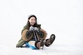여성, 썰매타기 (겨울스포츠)