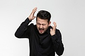 남성, 얼굴표정 (커뮤니케이션컨셉), 감정, 두려움
