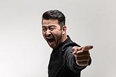 남성, 얼굴표정 (커뮤니케이션컨셉), 감정, 분노, 화, 소리