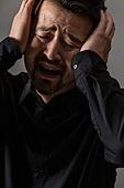 남성, 얼굴표정 (커뮤니케이션컨셉), 감정, 슬픔, 울음 (얼굴표정), 절망