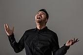 남성, 얼굴표정 (커뮤니케이션컨셉), 감정, 기쁨, 웃음, 미소, 황홀 (밝은표정)