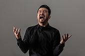 남성, 얼굴표정 (커뮤니케이션컨셉), 감정, 분노, 화, 고함 (말하기)