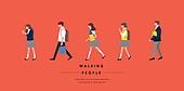 사람, 걷기, 옆모습, 직업, 교육 (주제), 학생, 여학생, 남학생, 교복