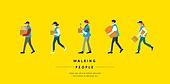 사람, 걷기, 옆모습, 직업, 배달 (일), 배달부