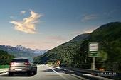 그래픽이미지, 풍경 (컨셉), 자동차, 도로, 속도 (컨셉), 하늘, 여행