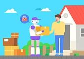 키오스크, 키오스크 (간이판매대), 로봇, 인공지능, 4차산업혁명 (산업혁명), 배달 (일), 택배배달부 (배달부)