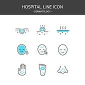 아이콘세트 (아이콘), 벡터파일 (일러스트), 라인아이콘, 치료 (사건), 병원 (의료시설)
