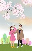 라이프스타일, 스모그 (대기오염), 건강관리 (주제), 먼지, 걱정, 봄, 커플, 마스크 (방호용품)