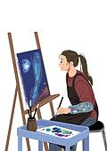 라이프스타일, 문화와예술 (주제), 휴식, 취미 (주제), 미술 (미술과공예), 미술수업 (교과목), 예술가 (창조적직업)
