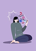 정신건강 (주제), 정신병, 건강한생활 (주제), 우울 (슬픔), 스트레스, SNS (기술)