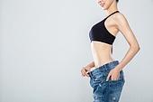 여성, 체형관리, 다이어트, 성공, 미소