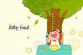 아기 (인간의나이), 밥, 이유식, 성장, 유아교육, 사람키 (Human Size), 나무, 여자아기