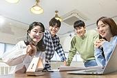 청년 (성인), 스타트업 (소기업), 비즈니스미팅 (미팅), 대학생, 토론, 손가락