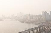 대기오염 (공해), 대기오염, 스모그, 공해, 서울 (대한민국), 한국 (동아시아), 대한민국 (한국), 도시풍경, 환경오염