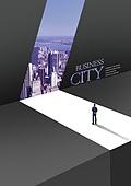 그래픽이미지, 합성, 편집디자인, 비즈니스, 비즈니스맨, 레이아웃, 포스터, 카피스페이스, 도시, 미니멀 (구도)
