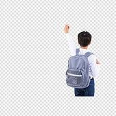 PNG, 누끼 (컷아웃), 어린이 (인간의나이), 초등학생, 입학, 책가방, 개학 (교육)
