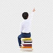 PNG, 누끼 (컷아웃), 어린이 (인간의나이), 초등학생, 소년, 책, 노트 (사무용품), 공부