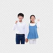 PNG, 누끼 (컷아웃), 어린이 (인간의나이), 초등학생, 소년, 소녀, 두명, 친구