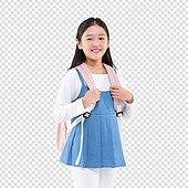 PNG, 누끼 (컷아웃), 어린이 (인간의나이), 초등학생, 소녀, 책가방