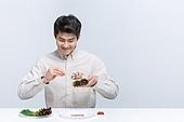 다이어트, 과식 (먹기), 폭식증 (섭식장애), 식사, 체형관리 (건강한생활), 젓가락, 쌈, 상추